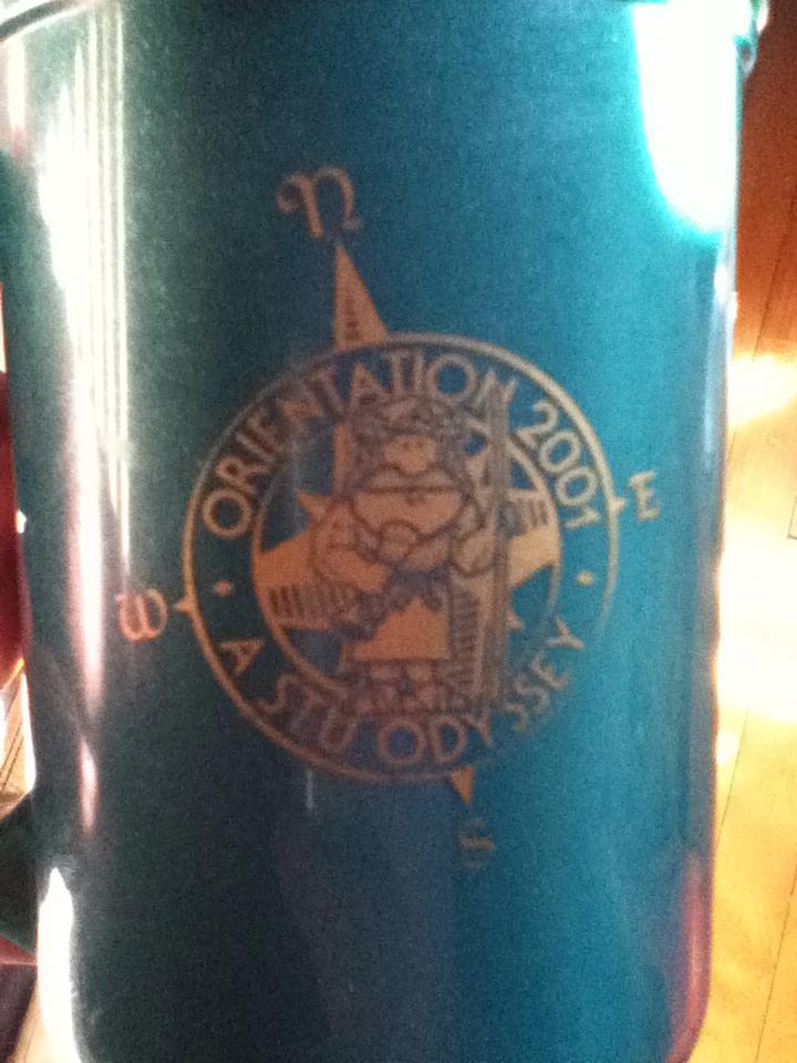 My STU Orientation Week mug.  Aahhhh, memories!