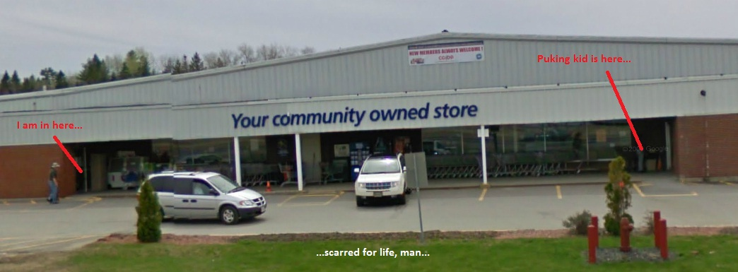 I can't go to the Co-Op without thinking about it. For real.