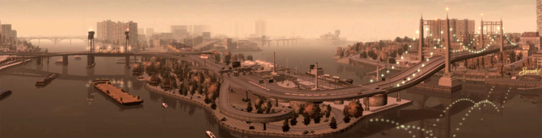 Not the coolest-looking bridge, but it does give you a nice view of the main downtown area.