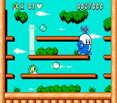 Like at the end of the first game, seeing a HUGE version of a regular enemy was amazing.