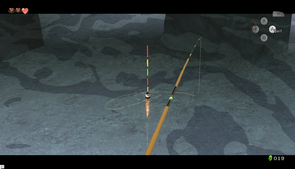 Just… drop… you stupid fishing lure...